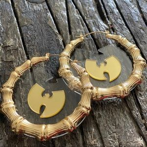 Wu Tang Earrings gold plated size 70mm